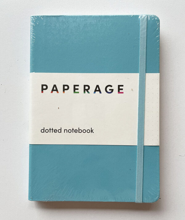 Cuaderno bullet journal azul celeste