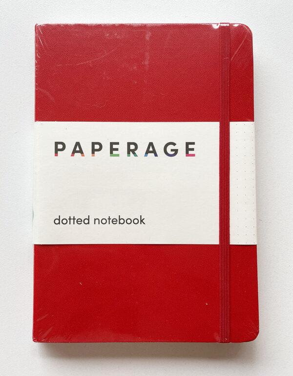 Cuaderno bullet journal rojo